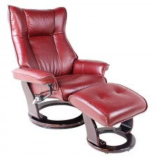 Кожаное кресло-реклайнер Relax Melvery