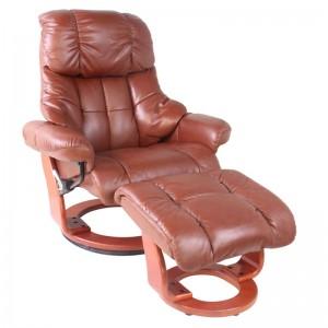 Кожаное кресло-реклайнер Relax LUX