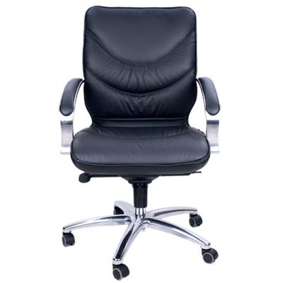 Кожаное кресло для руководителя Leeds Chrome
