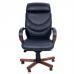 Кожаное кресло для руководителя Leeds Wood