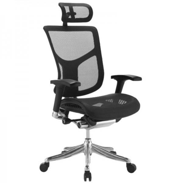 Эргономичное компьютерное кресло Expert Star ST-01 (черное)
