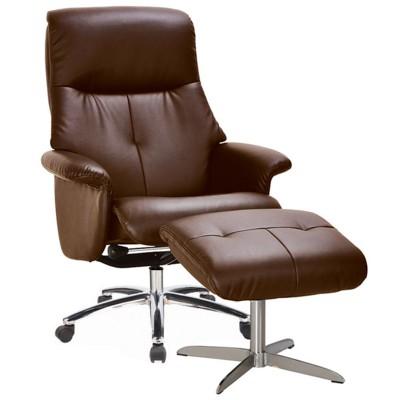 Кожаное кресло-реклайнер Relax Boss на колесной базе